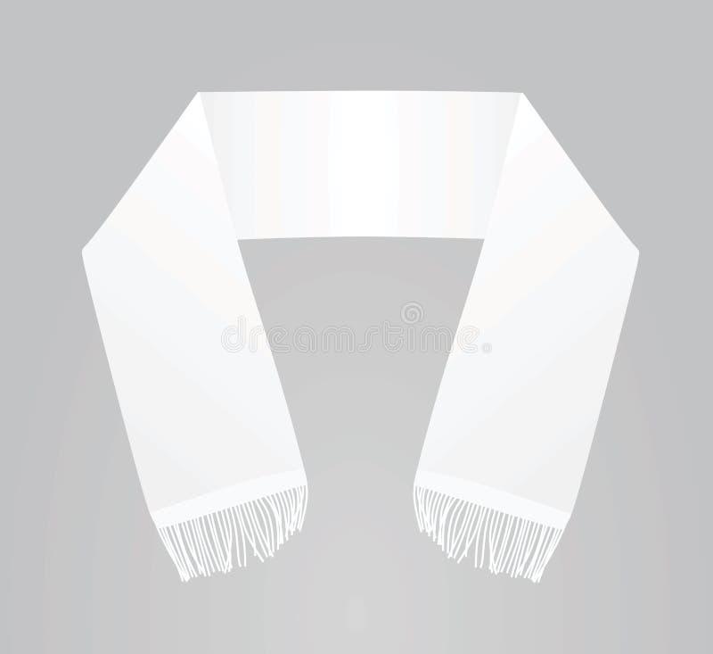 White scarf template. Vector illustration stock illustration