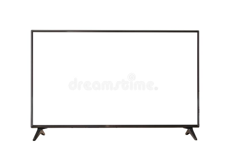 White screen LED TV television isolated on white stock photography