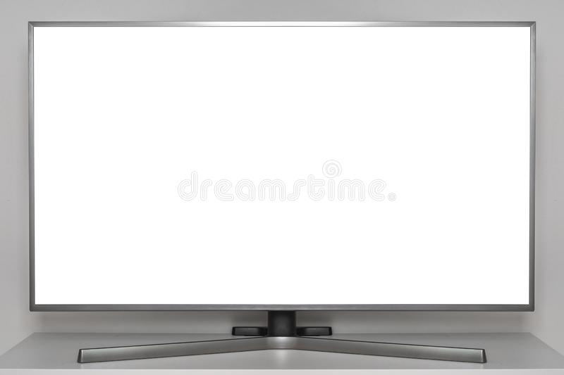 White screen on digital TV royalty free stock photography
