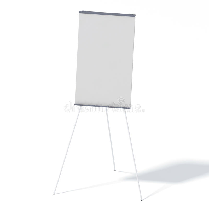 White screen projector. Isolated on white background stock illustration