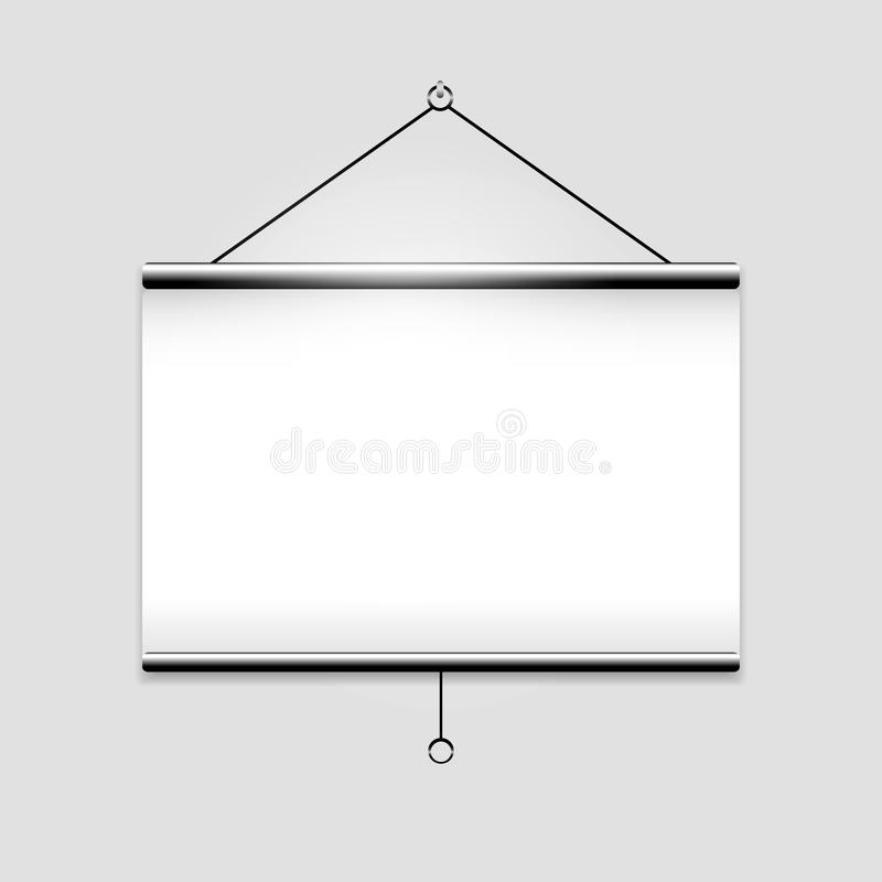 White screen projector clean background. This is file of EPS10 format royalty free illustration