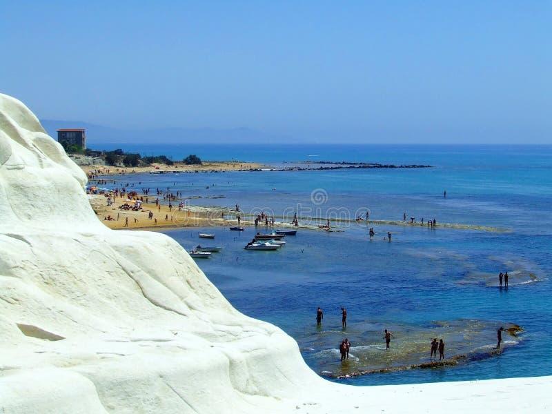 White sea coast mountain