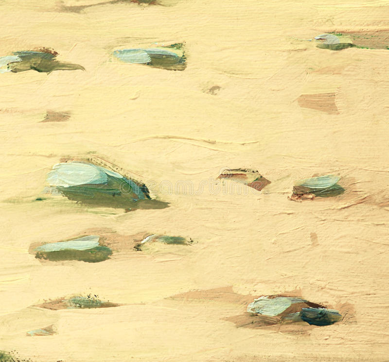 Free White Sea Sand And Stones On Coast, Painting Stock Images - 38708914