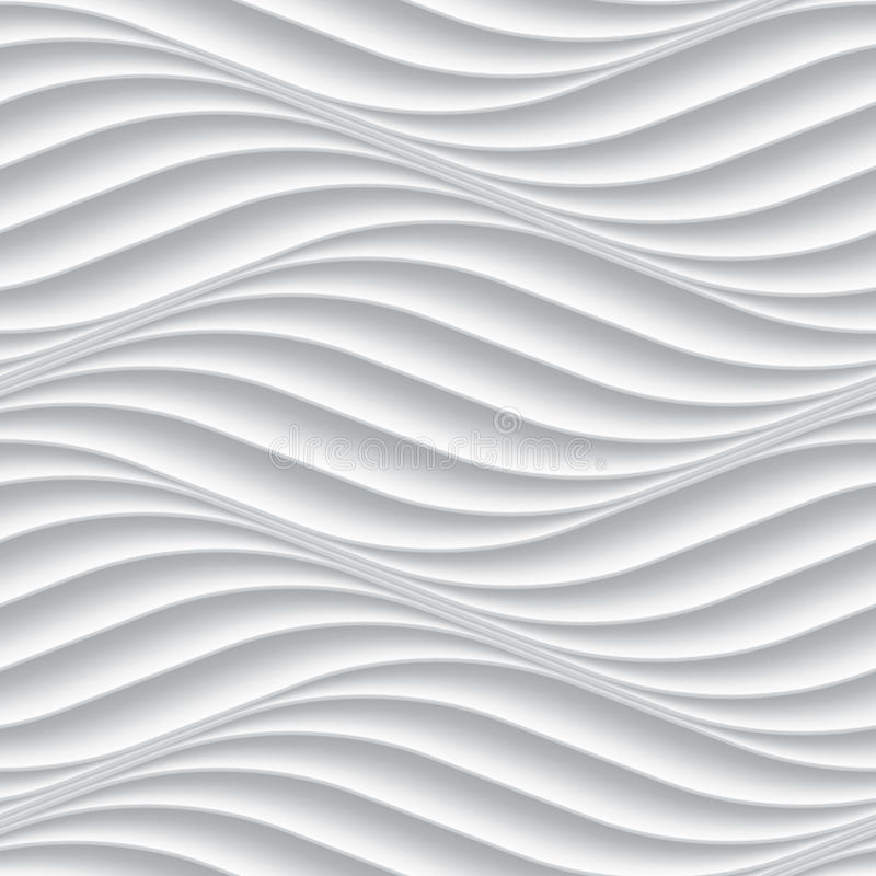 White Seamless Background Panel With Wavy Texture Stock ...