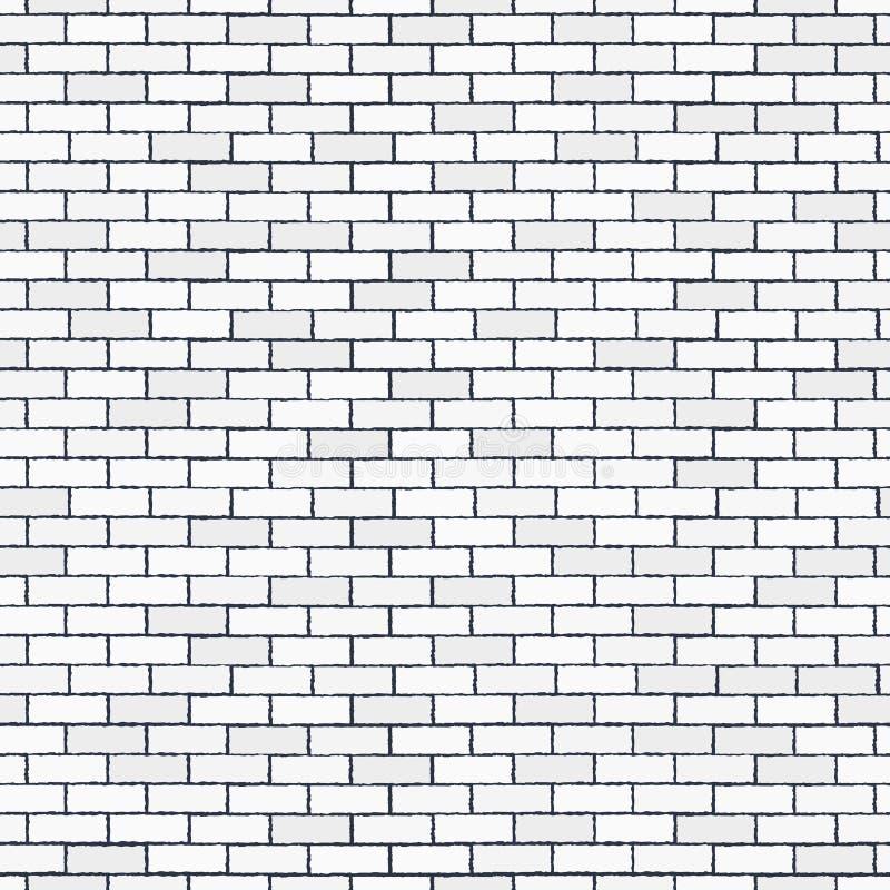 White seamless brick wall, pattern stonework background. White seamless brick wall. Pattern stonework background. Modern design. Vector illustration stock illustration