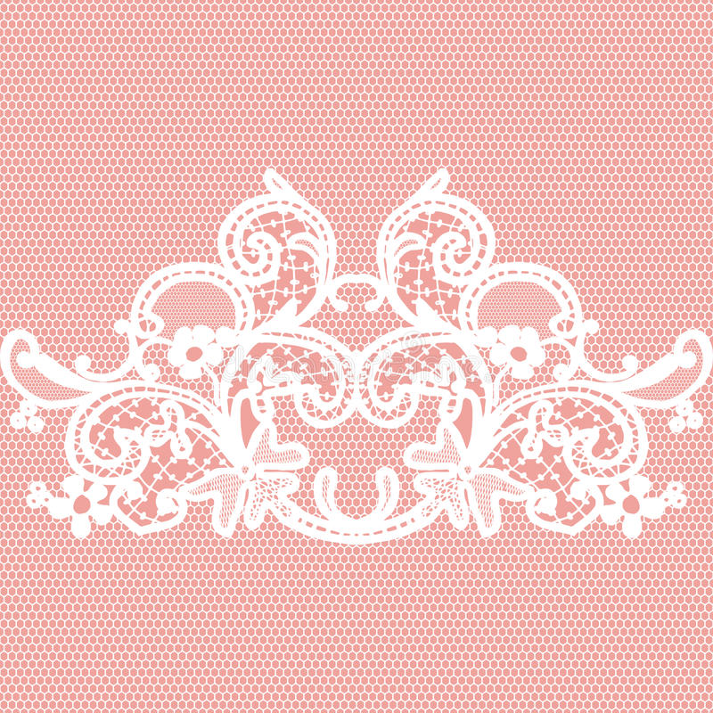 White seamless lace royalty free illustration