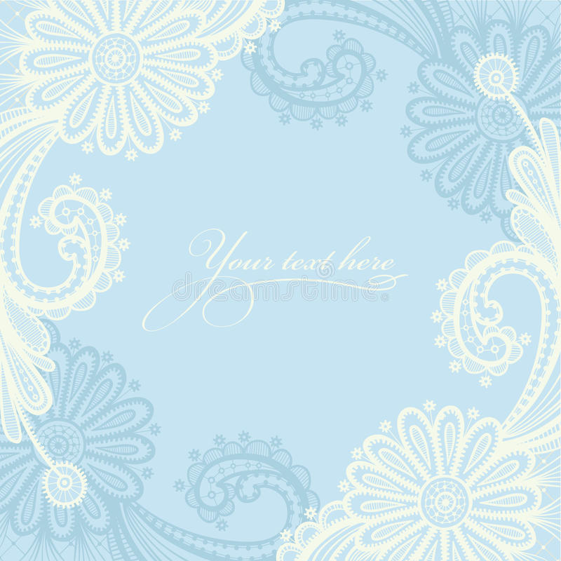 White seamless lace floral pattern. vector illustration