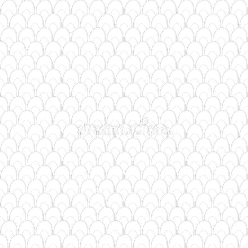 White seamless Traditional japanese seigaiha ocean wave pattern vector illustration