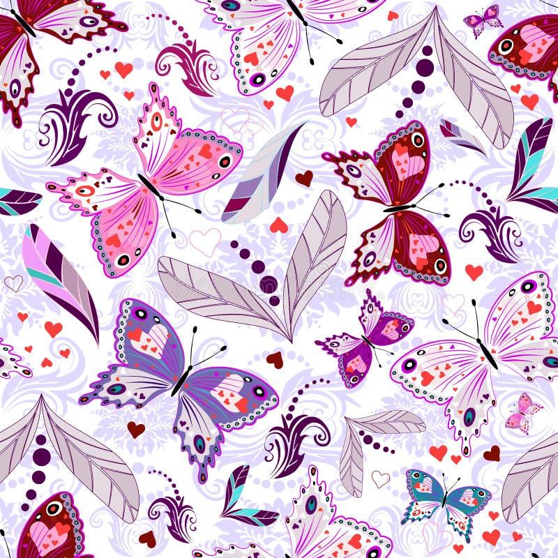 White seamless valentine pattern vector illustration