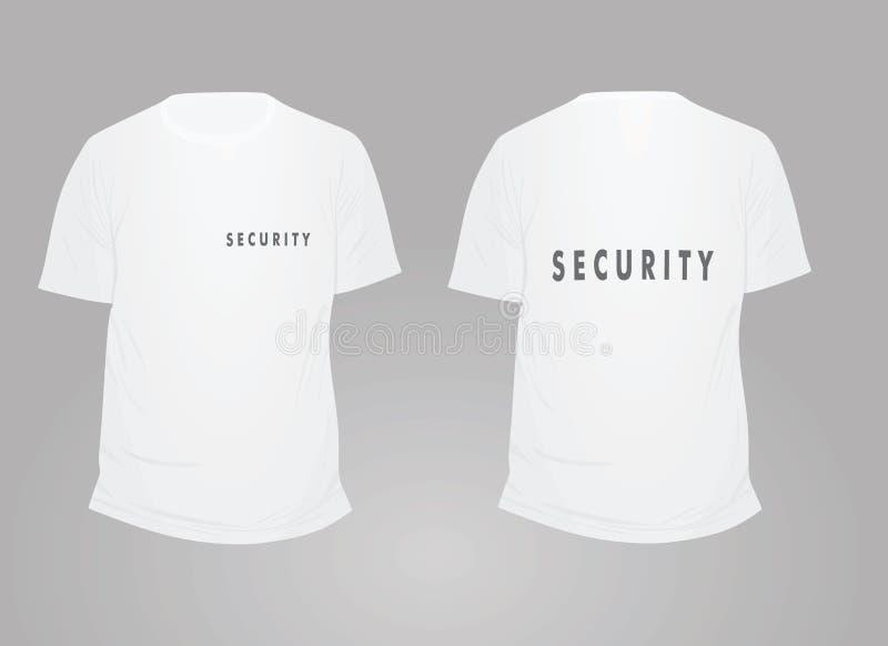 White security t shirt. Vector illustration vector illustration