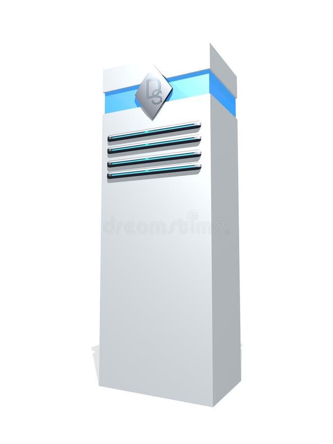 White server tower vector illustration