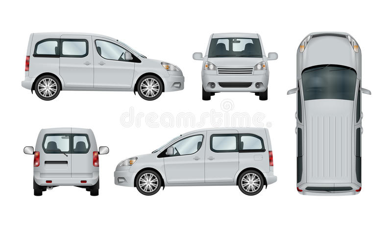 White service car template. royalty free illustration