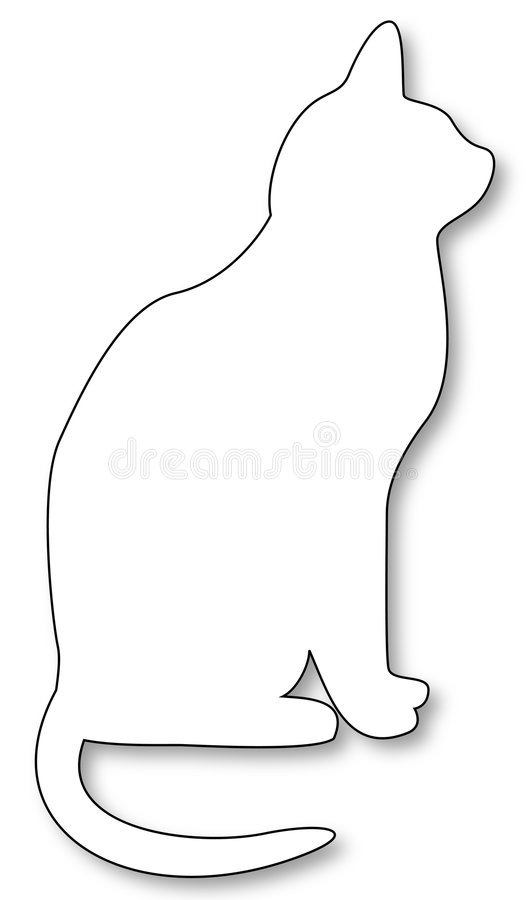 Download White shadowed cat stock vector. Image of black, white - 4673628