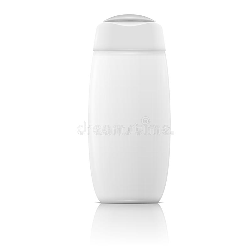 White shampoo bottle template. royalty free illustration