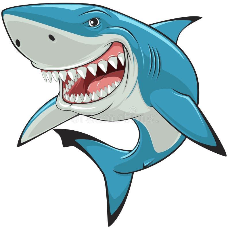White sharkŒ. Vector illustration: toothy white shark stock illustration