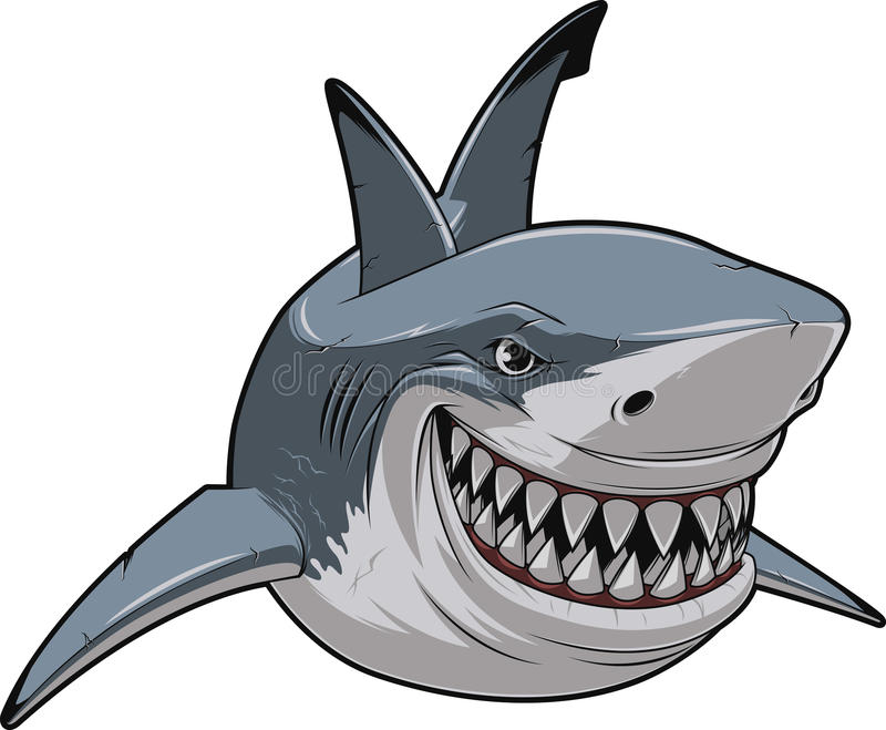 White shark stock illustration