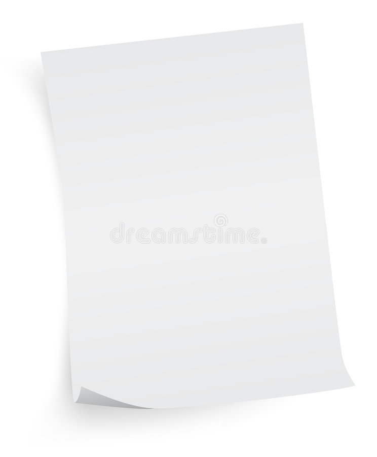 Free White Sheet Of Paper Royalty Free Stock Photography - 8340987