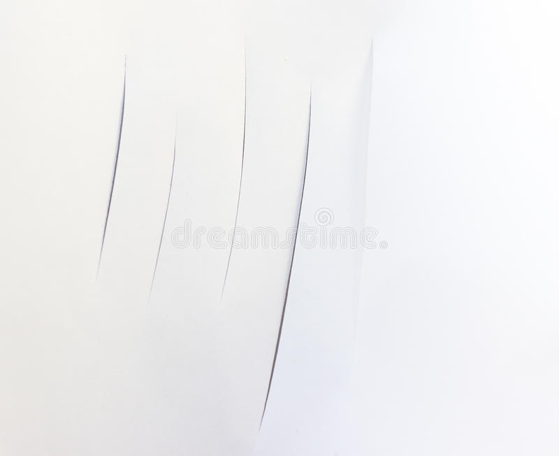 White Sheet Paper Cuts stock images