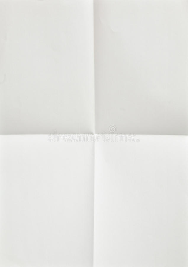 Download White Sheet Of Paper Folded Stock Image - Image: 20293823