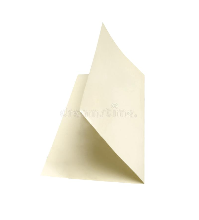 White sheet of paper isolated. On white royalty free stock photo