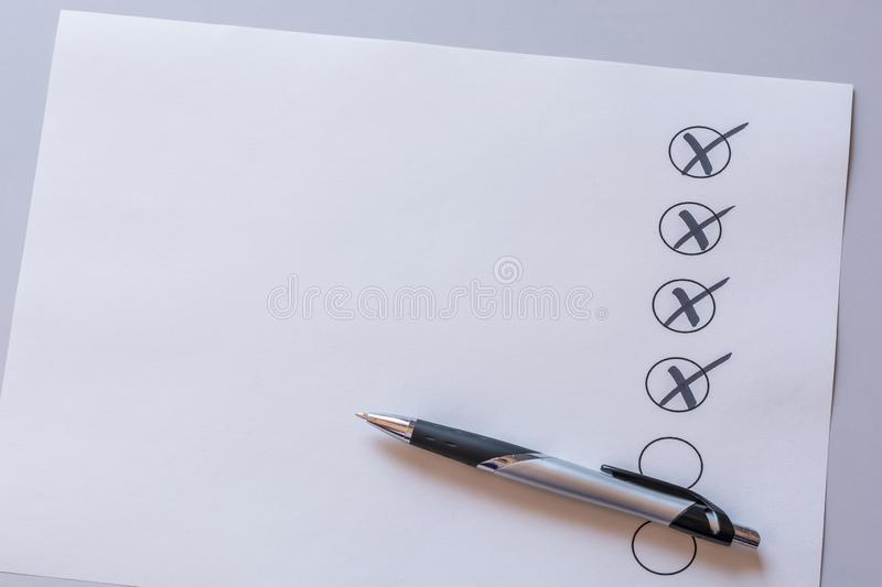 Checked list with free space as template royalty free stock image
