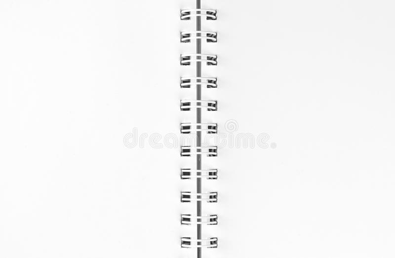 White sheets with spiral binding. Spiral closeup.  stock illustration