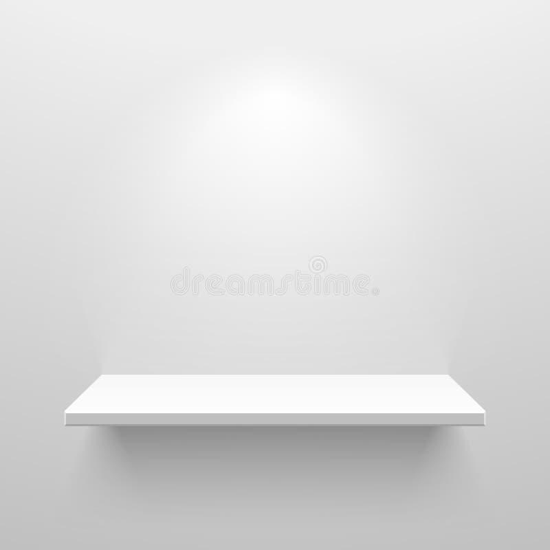 White shelf. Empty white shelf for exhibit vector illustration