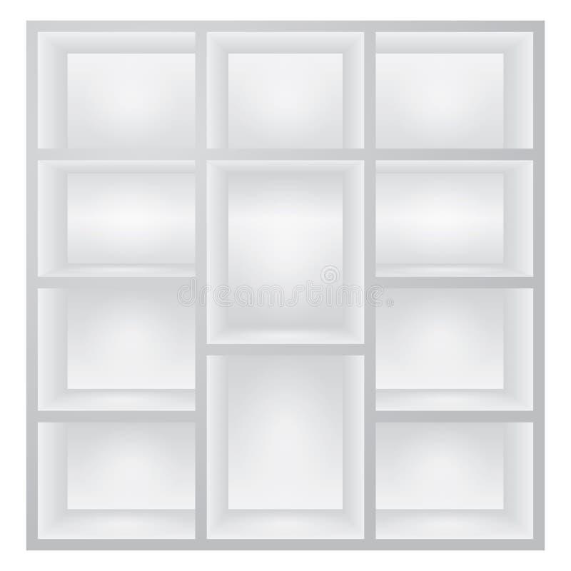 White shelves royalty free illustration