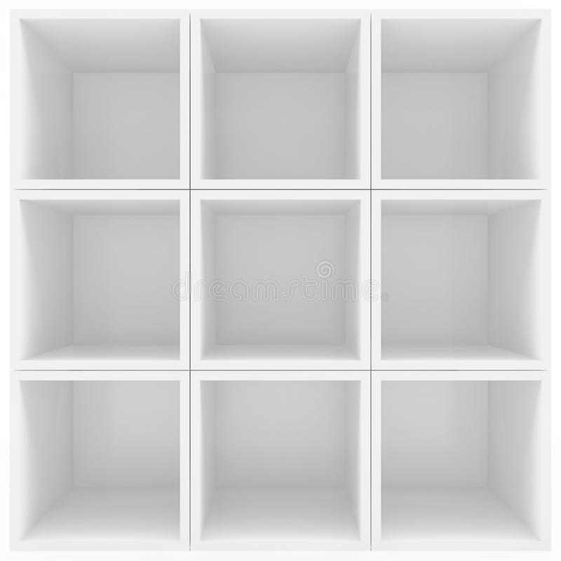 Download White shelves stock illustration. Image of gallery, advertising - 24421704