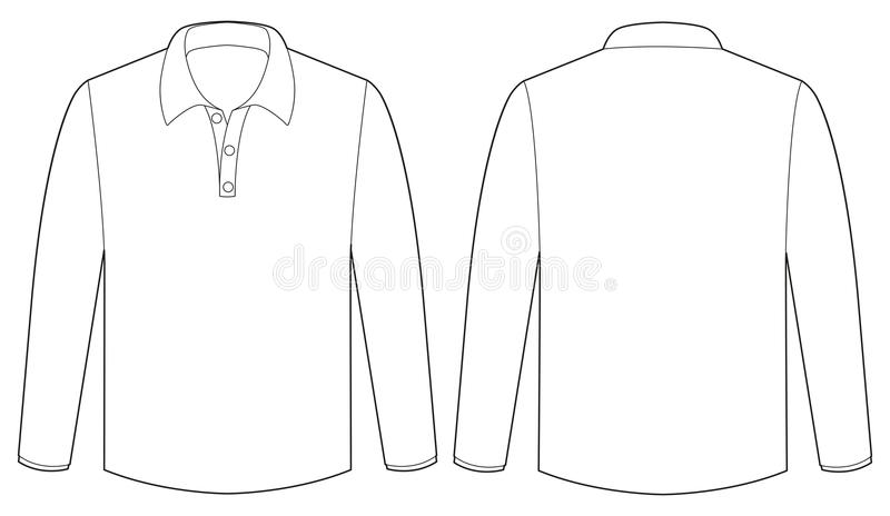 White shirt. Back and front view of white t-shirt royalty free illustration