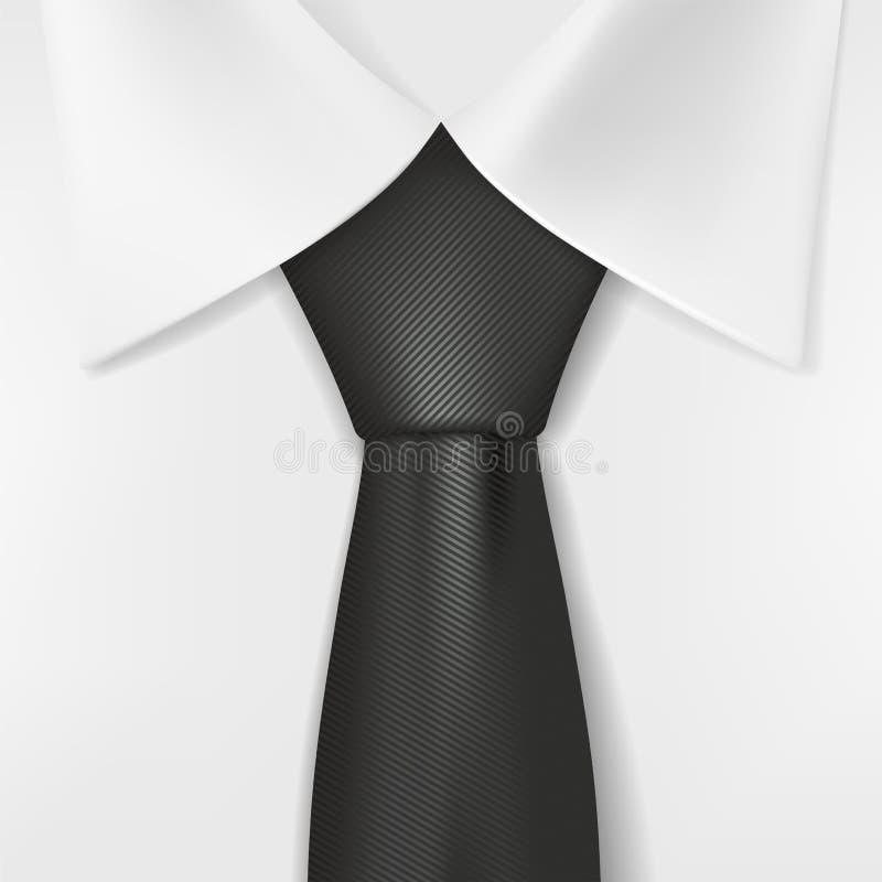 white shirt and black tie stock illustration illustration