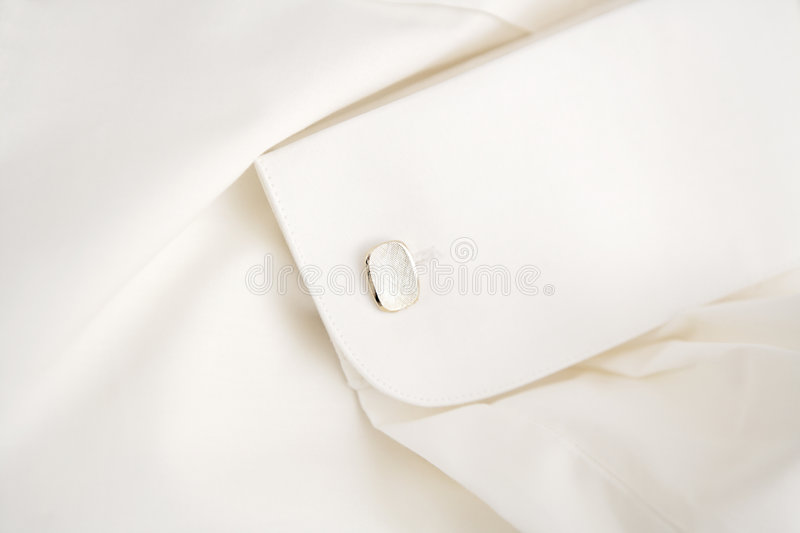 White shirt with cufflink royalty free stock photography