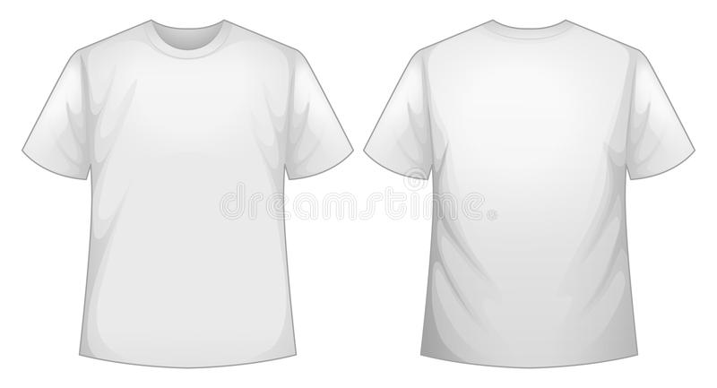 White shirt. Front and back view of white shirt royalty free illustration
