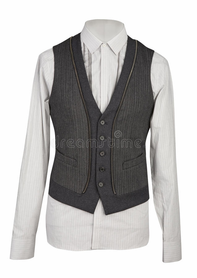 White shirt and gray waistcoat stock photography