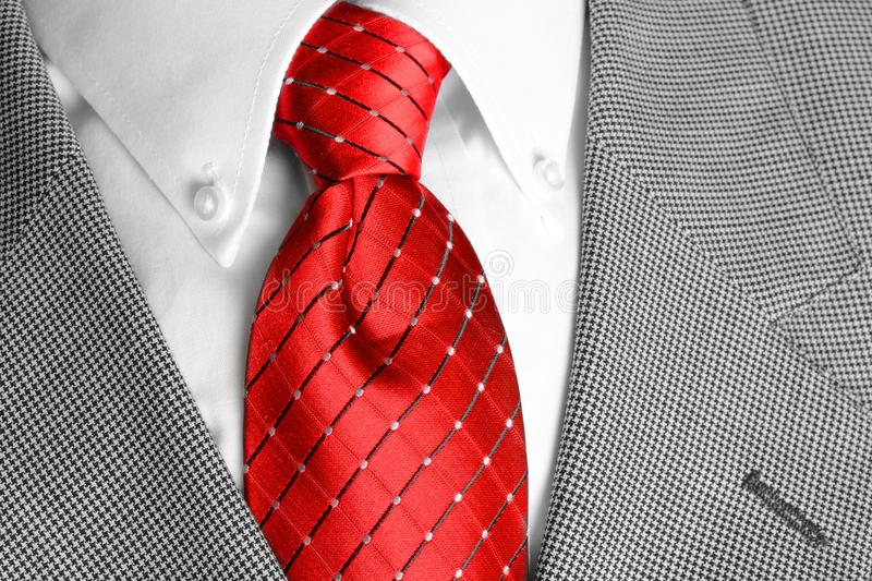 White Shirt Suit Coat and Red Tie for Dressing up or Business royalty free stock photo