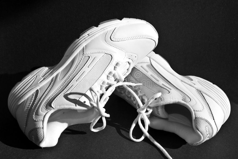 White Shoes/Sneakers stock images