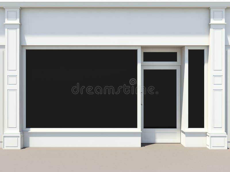 White shopfront stock illustration