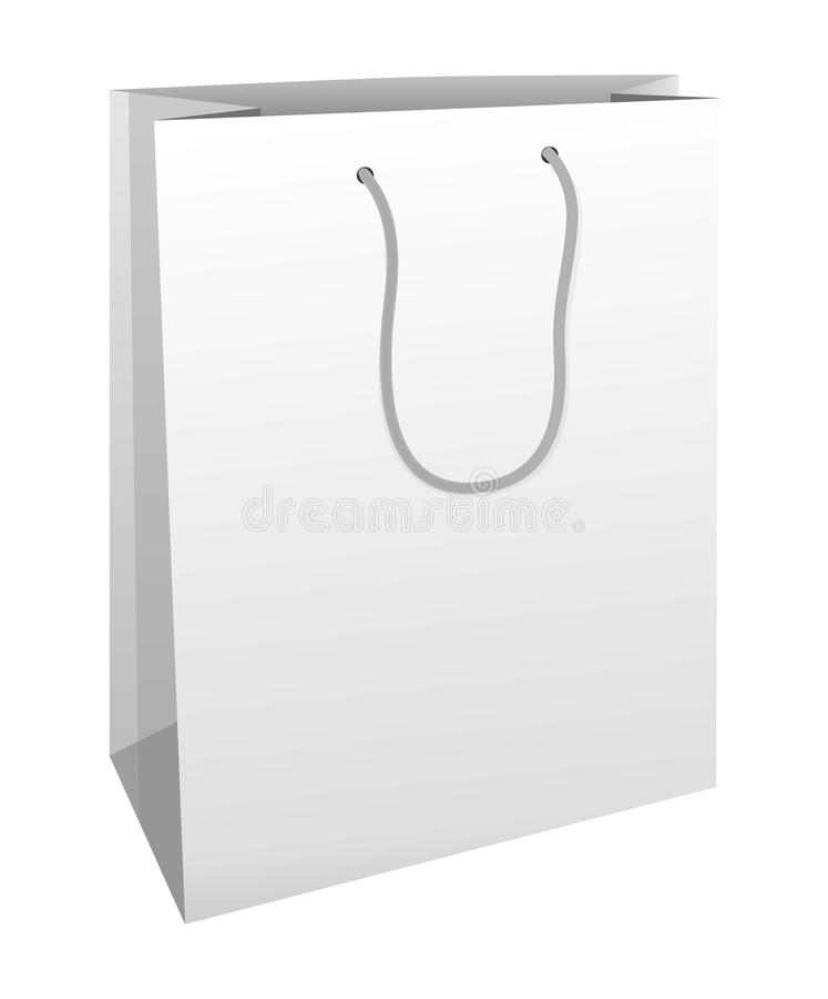 Free White Shopping Bag. Stock Image - 19195631