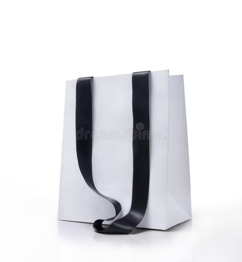 White shopping bag stock image. Image of shopping ...