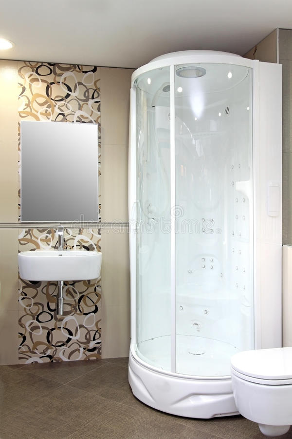 White shower royalty free stock image