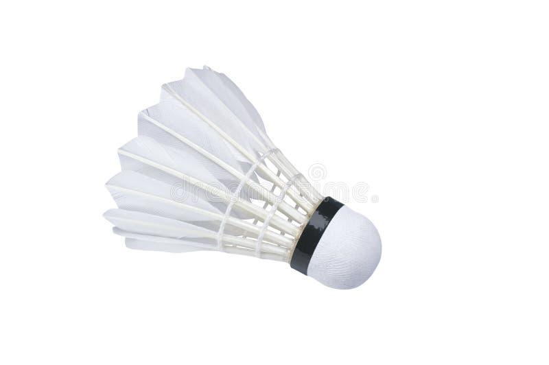 White shuttlecock isolated. On white background stock photos