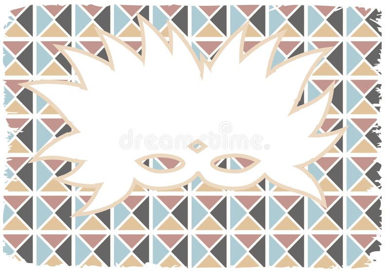 Download White Silhouette Feathed Mardi Gras Mask Grunge Stock Illustration - Illustration of blue, damaged: 16895024