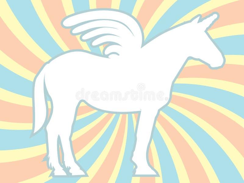 Download White Silhouette Unicorn Swirl Vector Illustration Stock Vector - Illustration: 16877608
