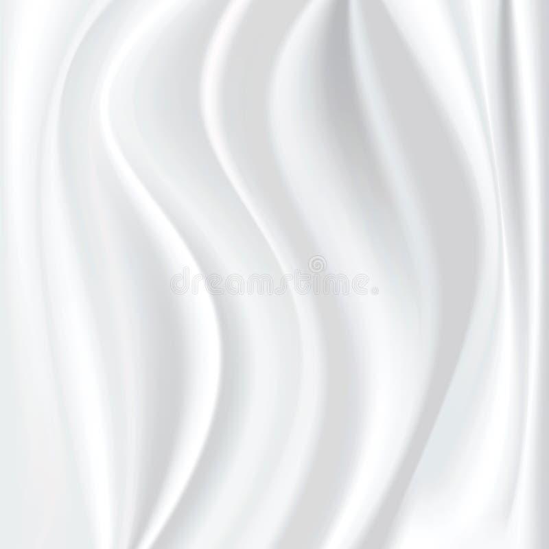 White silk. Vector white silk texture, curtain stock illustration