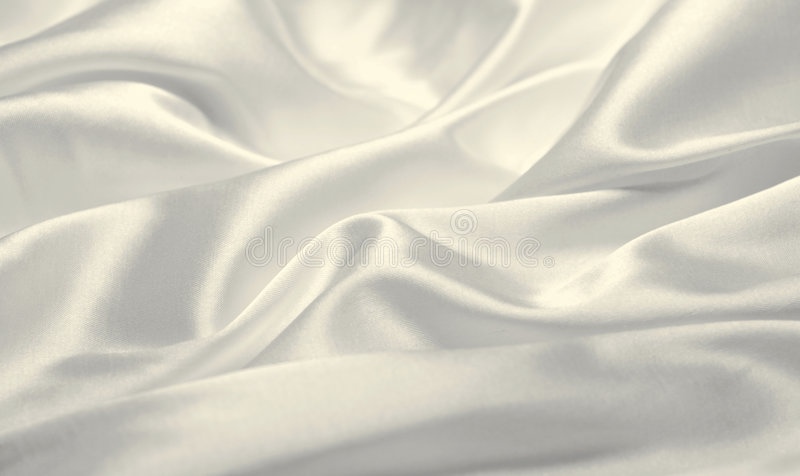 White silk stock image