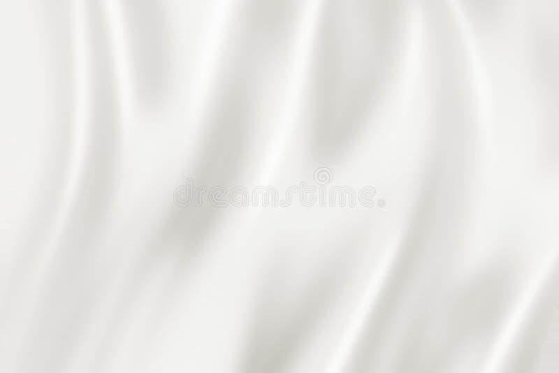White silk background texture. 3D illustration. White silk soft background texture. 3D illustration royalty free illustration