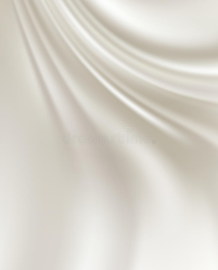 White Silk Backgrounds. White Silk Fabric for Drapery Abstract Background royalty free illustration