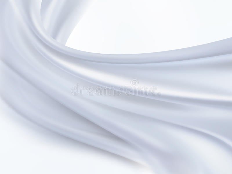 White silk. Closeup of white silk fabric as background royalty free illustration