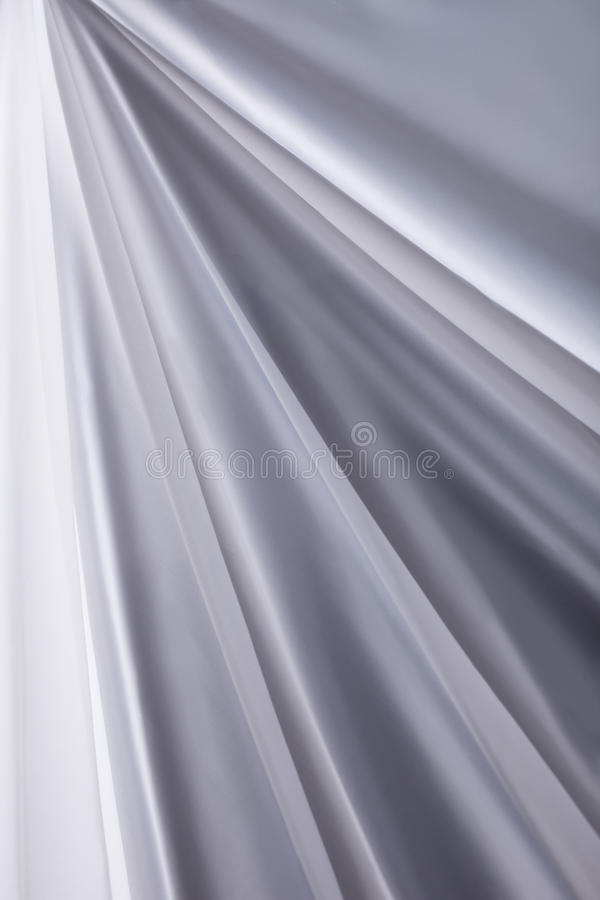 White Silk Cloth Waves Background Texture Close-up Stock Image