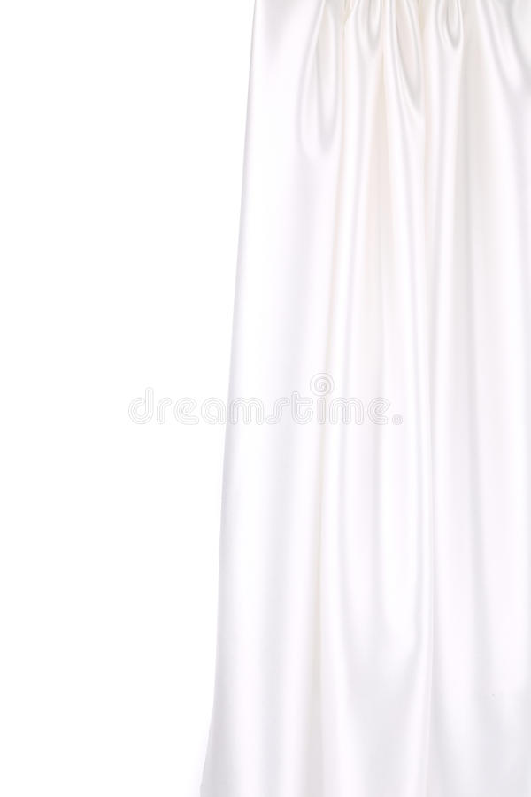 White silk drapery. Close up. Whole background stock illustration